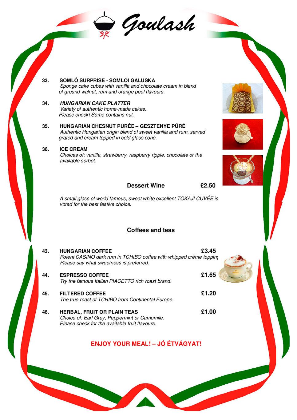 Traditional Hungarian Food List